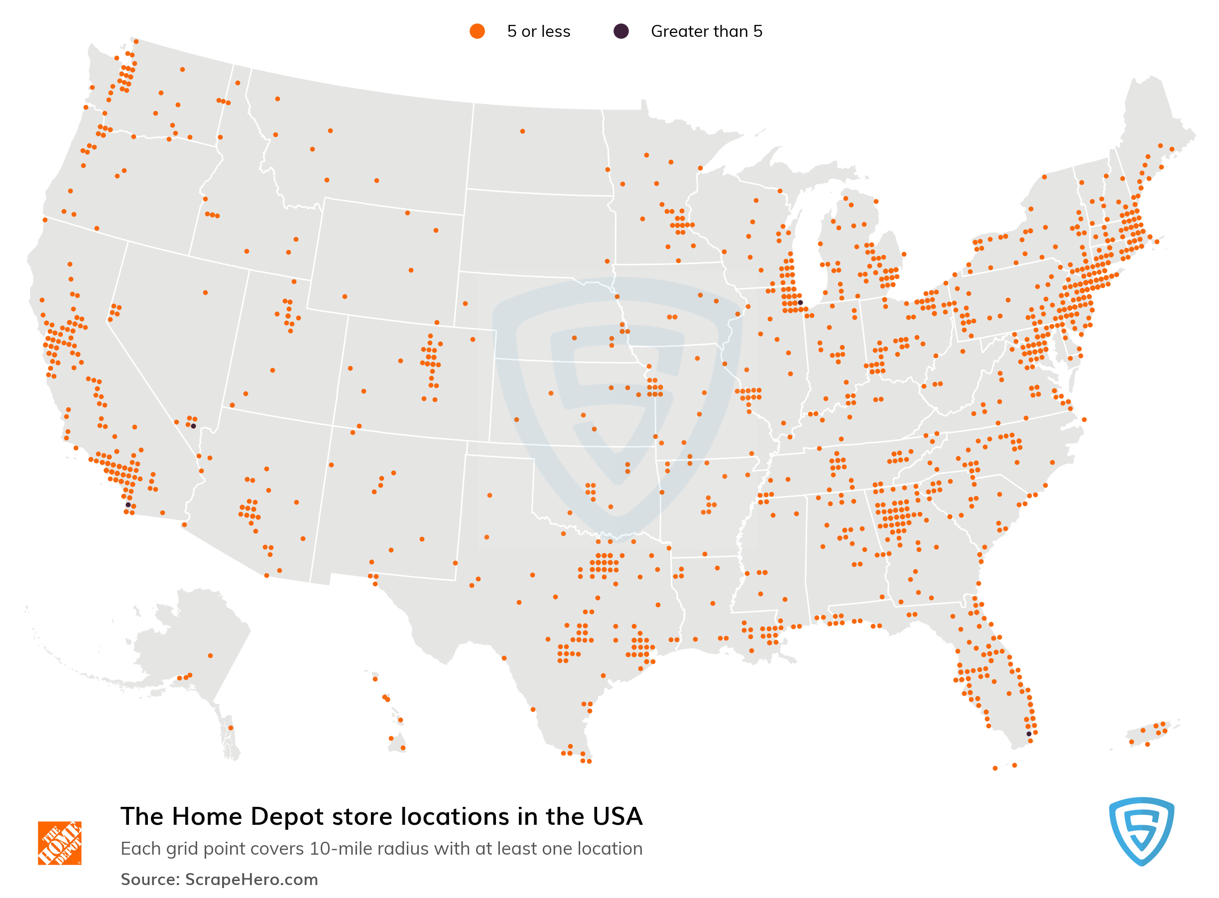 The Home Depot Store Locations in the USA | ScrapeHero Data Store