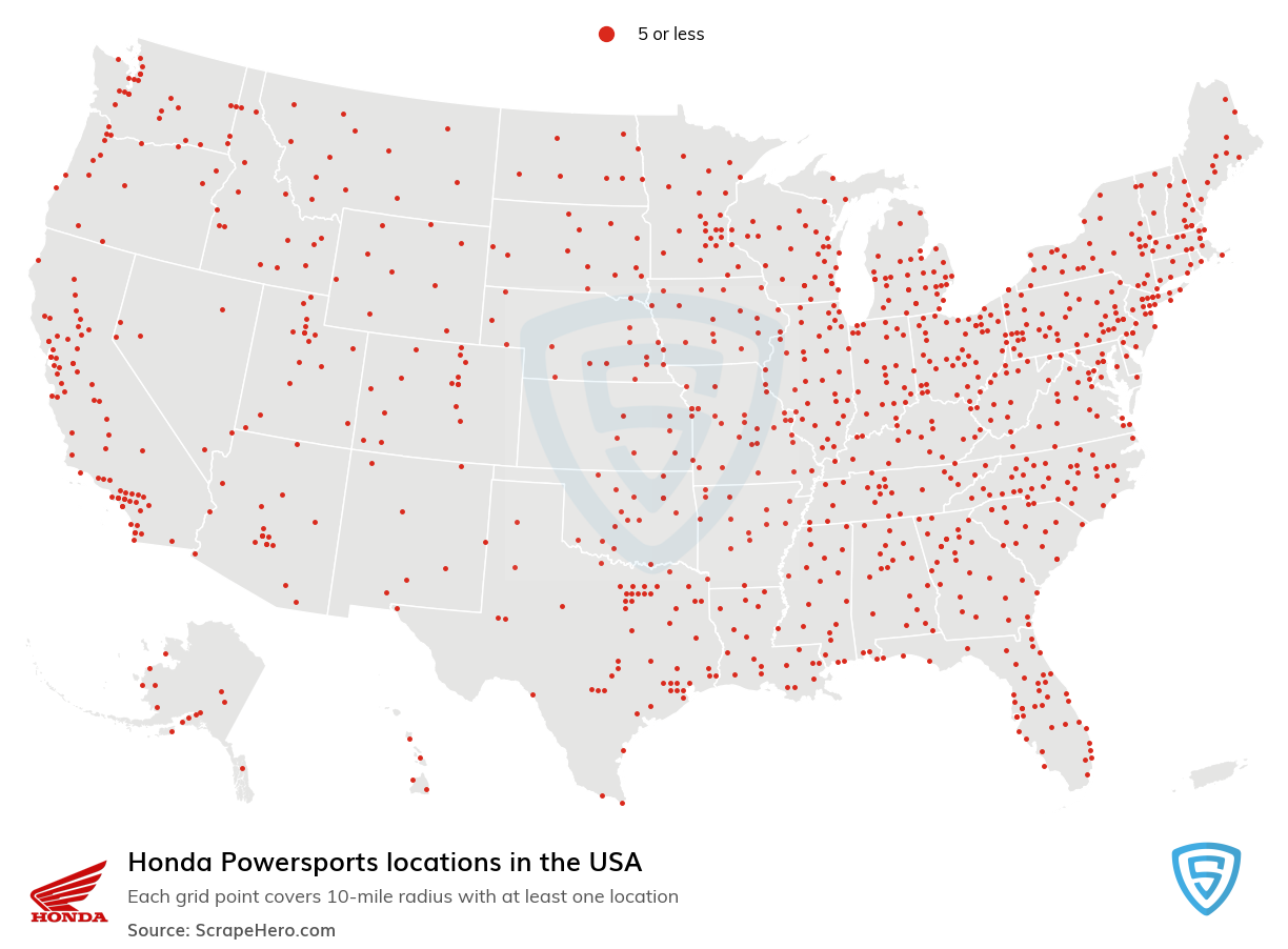 Honda Powersports locations in the USA
