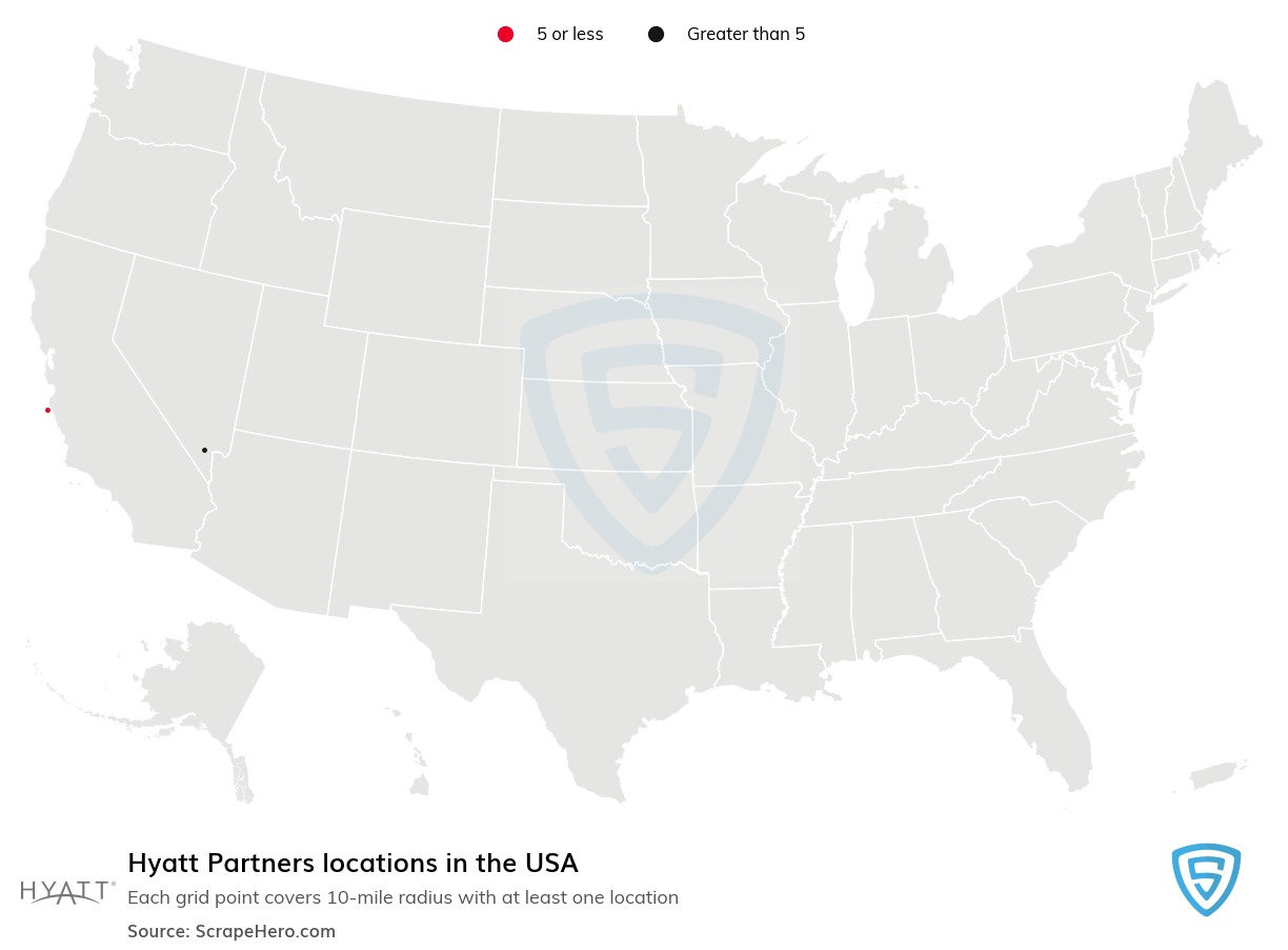 Hyatt Partners locations in the USA