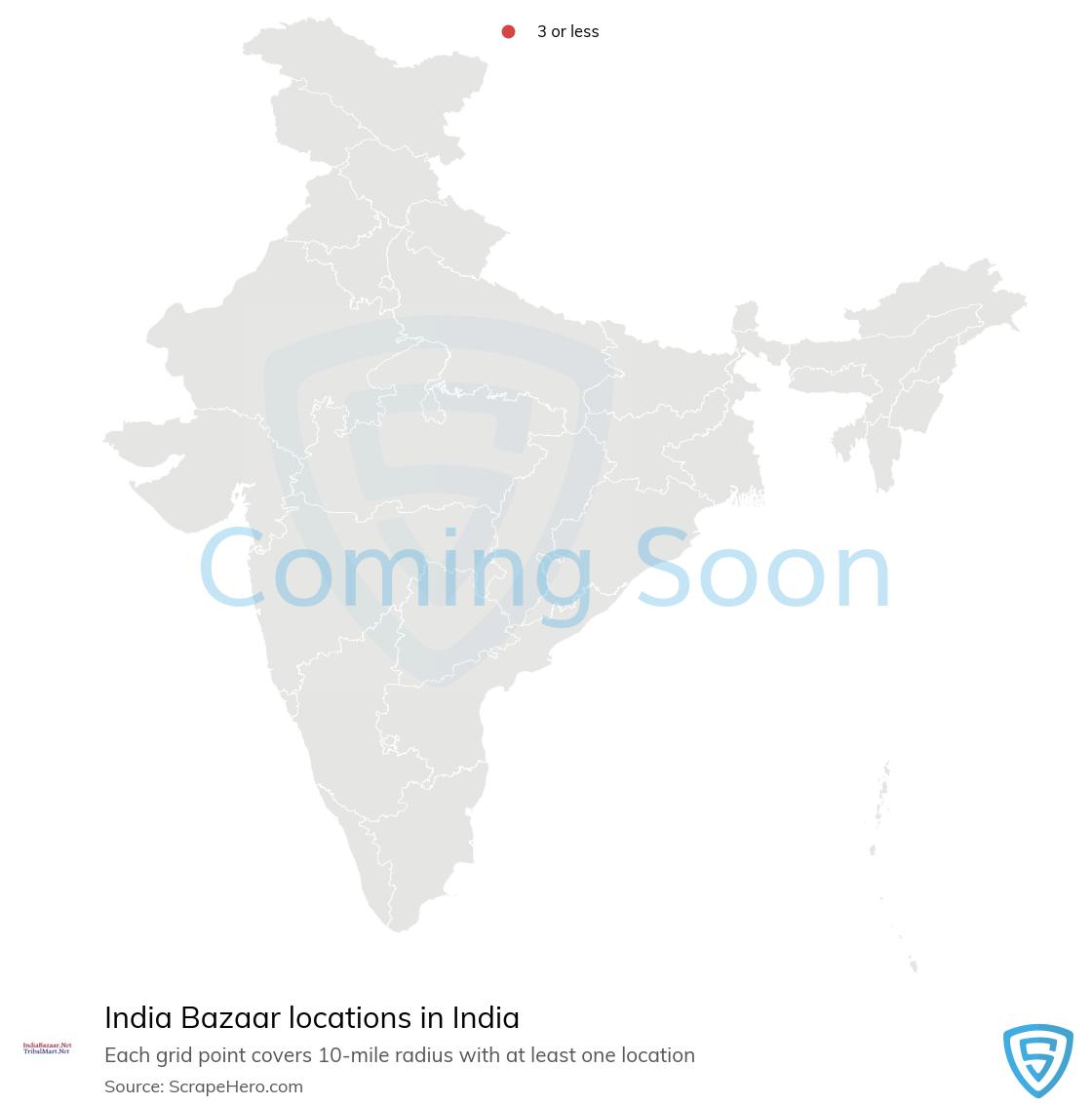 India Bazaar Store locations in India
