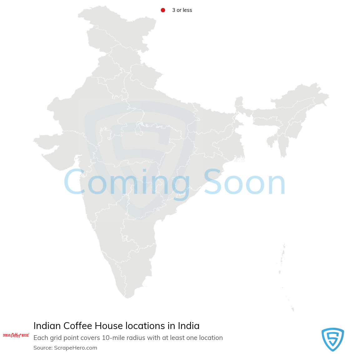 Indian Coffee House Store locations in India