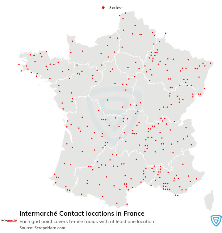 Intermarché Contact store locations