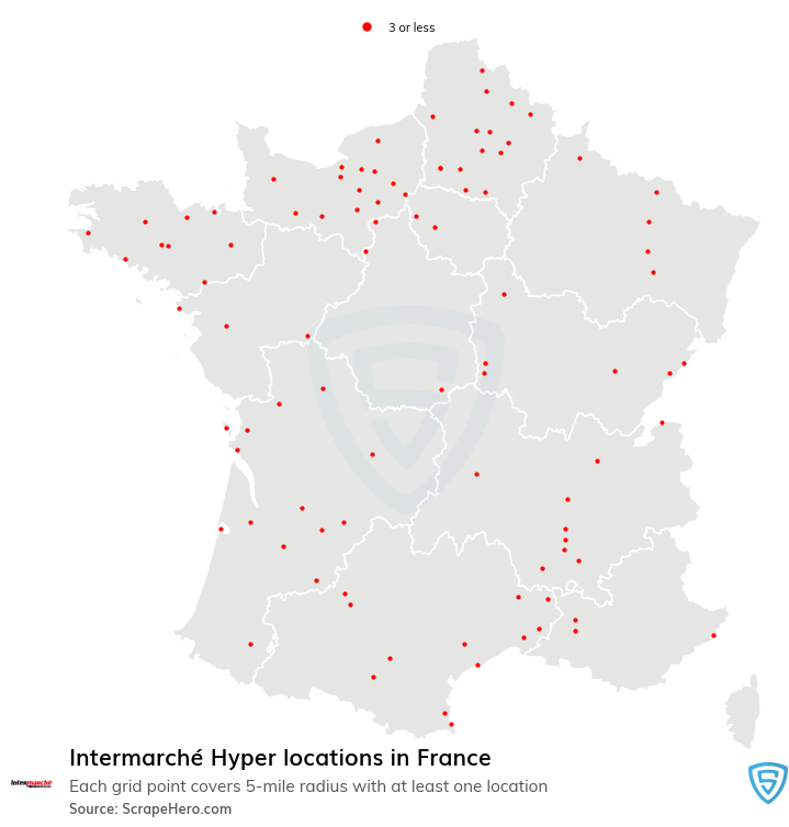 Intermarché Hyper store locations