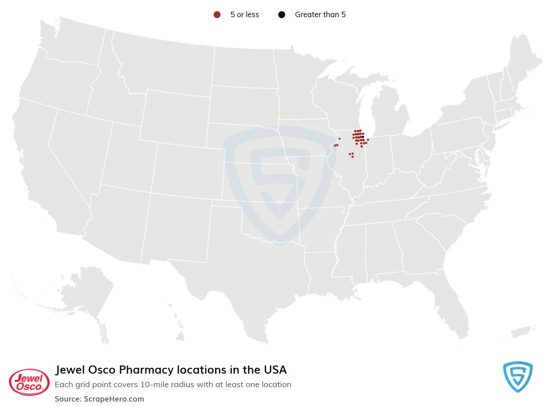 Jewel Osco Pharmacy locations in the USA