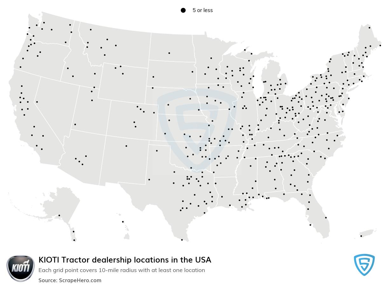 KIOTI Tractor dealership locations