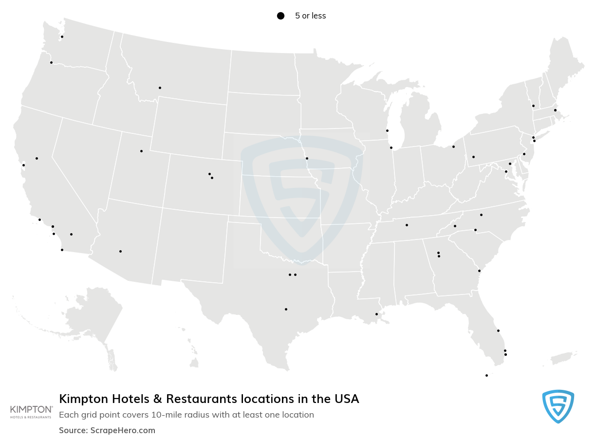 Kimpton Hotels & Restaurants locations in the USA