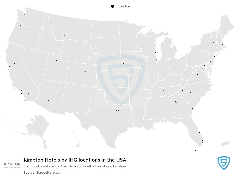 Kimpton Hotels & Restaurants locations