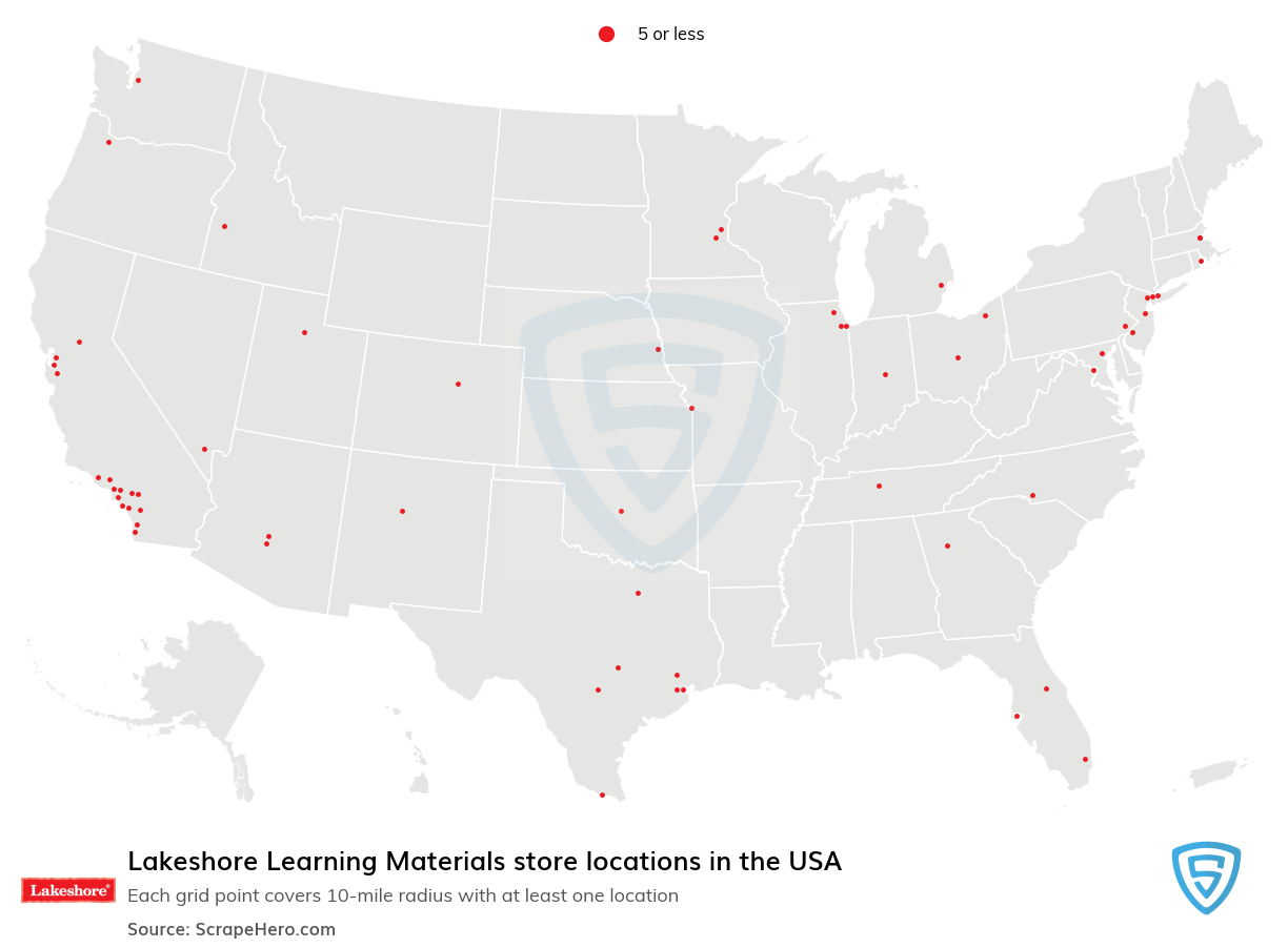Lakeshore Learning Materials store locations