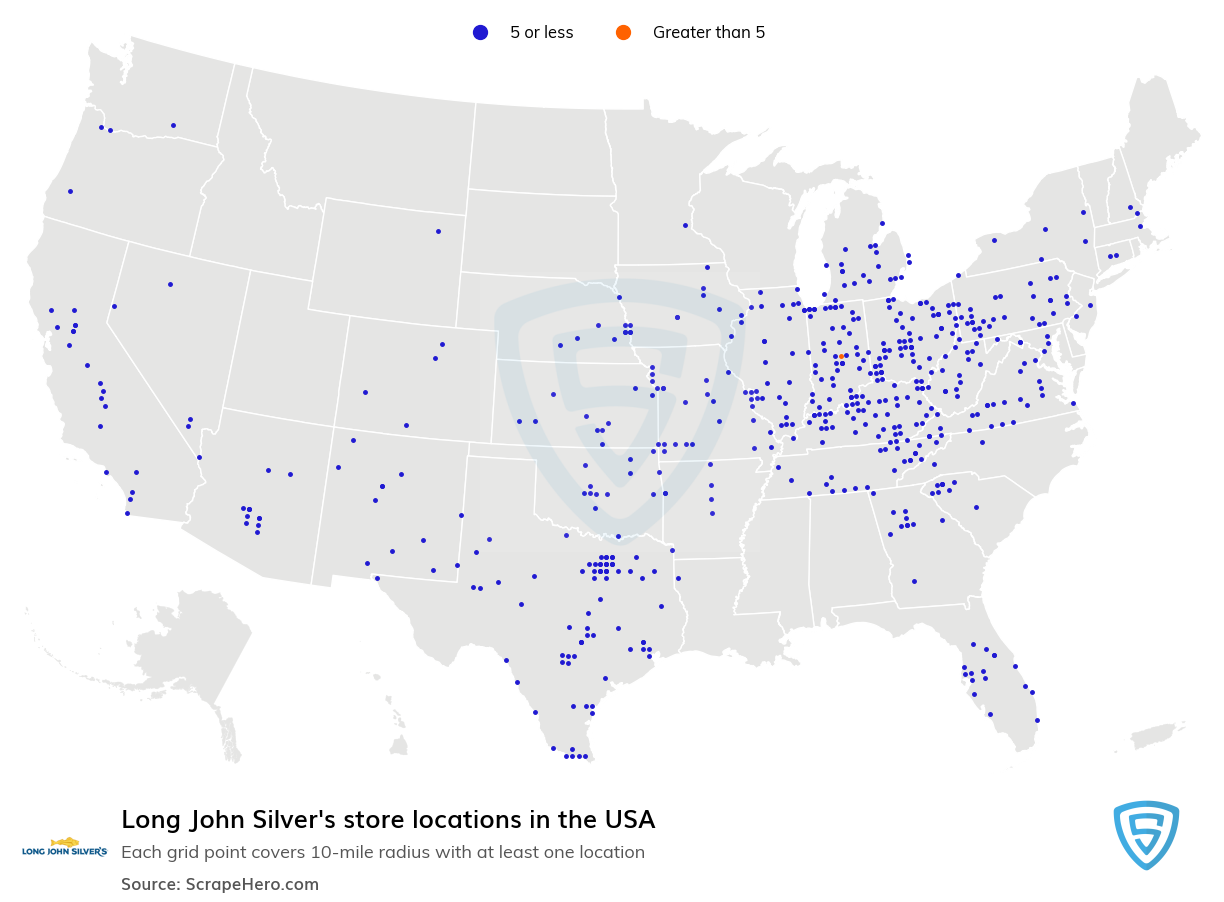 Long John Silver's store locations