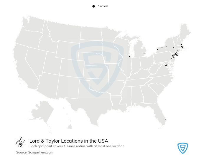 Lord & Taylor Store Locations in the USA