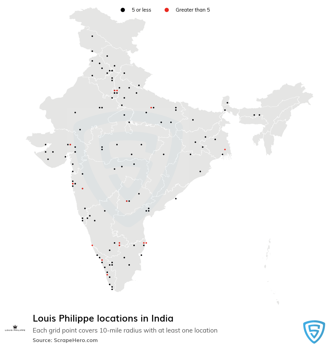 Louis Philippe store locations
