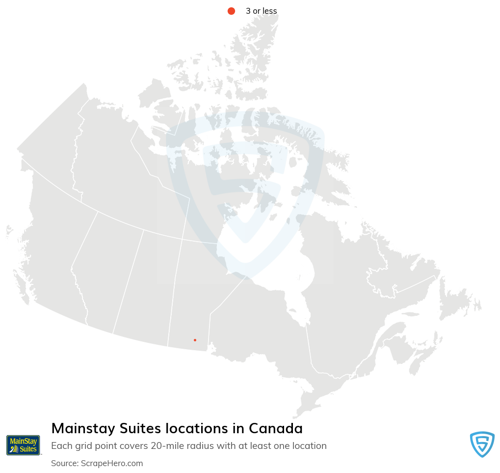 Mainstay Suites hotels locations