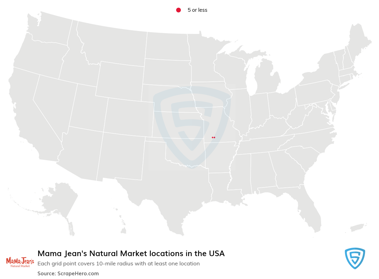 Mama Jean's Natural Market locations in the USA