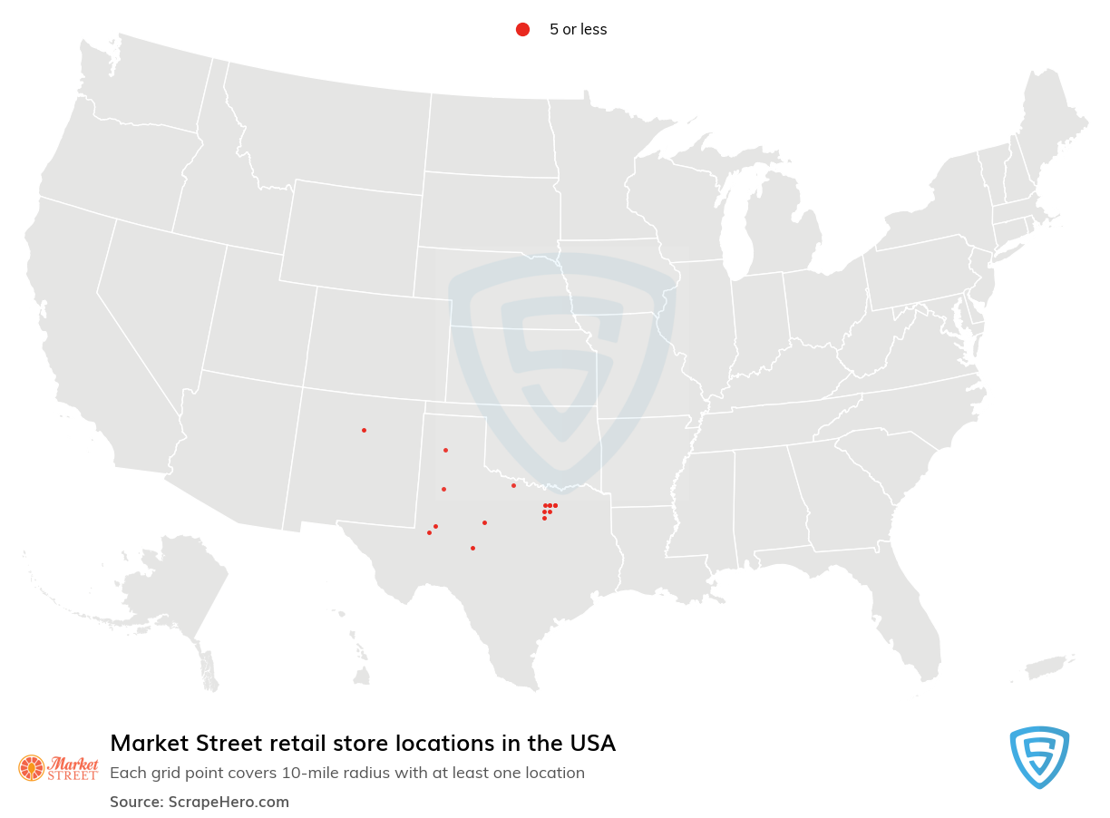 Market Street Store locations in the USA