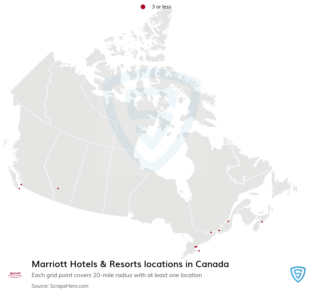 Marriott Hotels & Resorts locations in the Canada