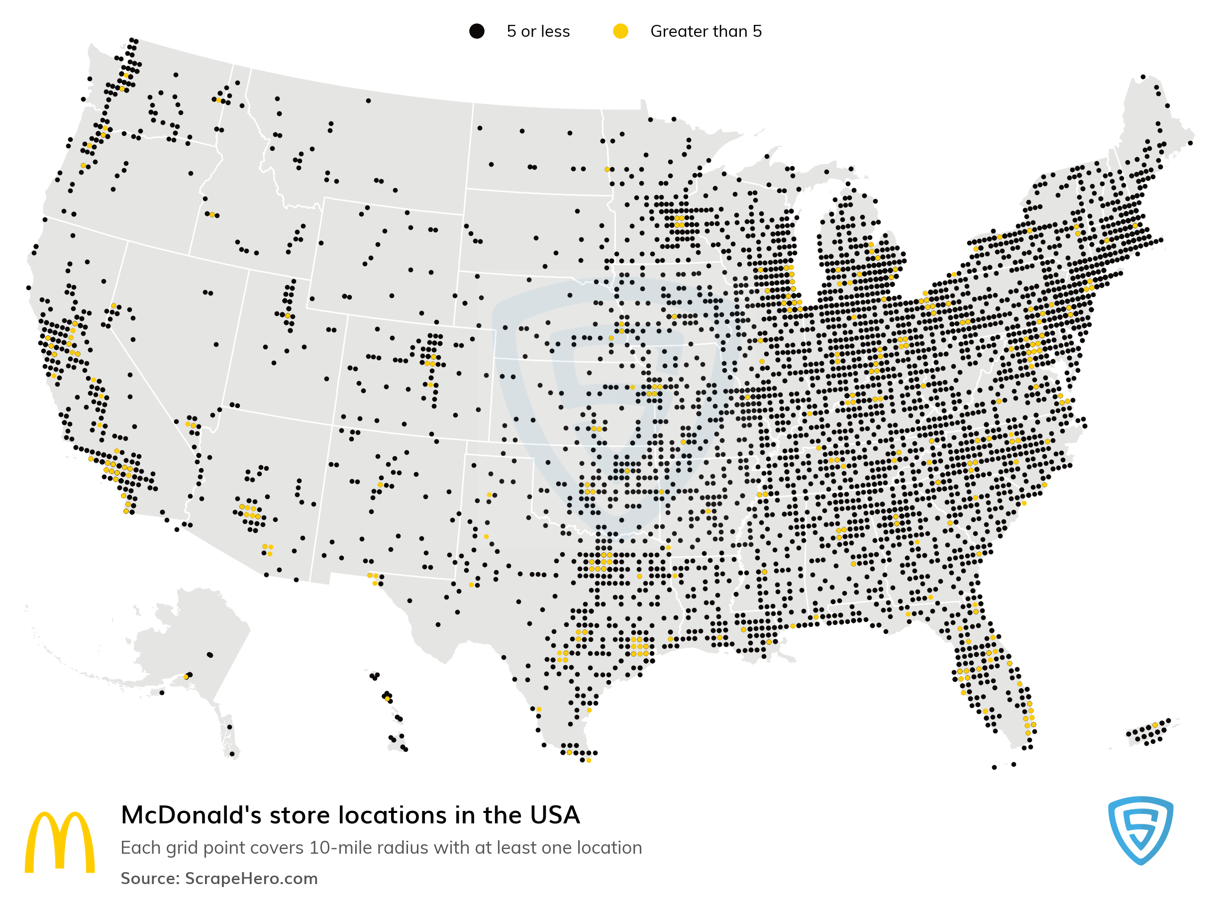 Large Map of McDonald's locations in the USA