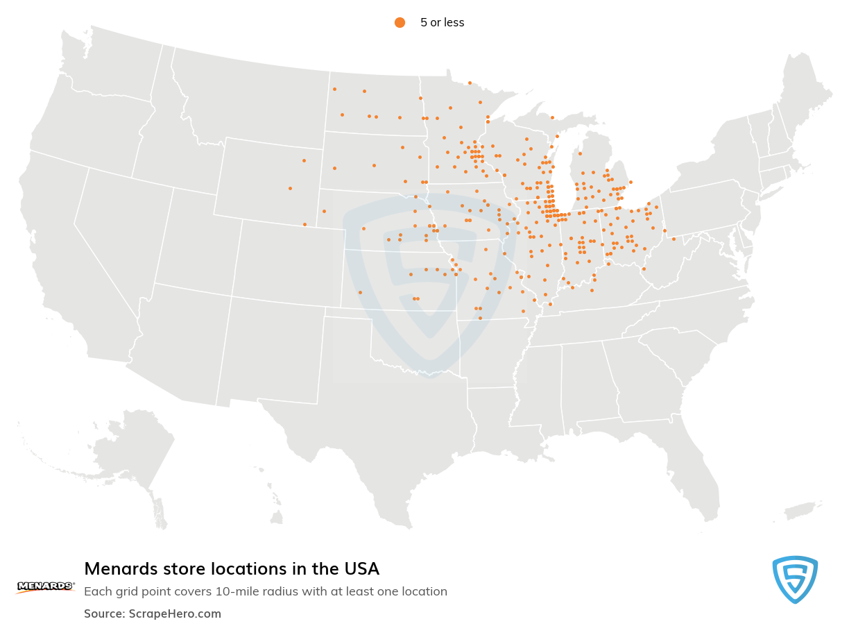 Menards Store locations in the USA