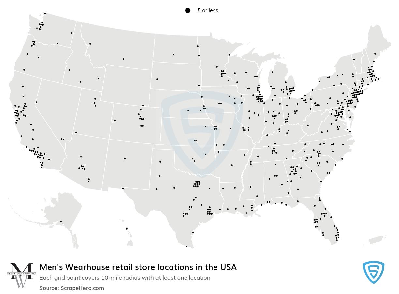 Men's Wearhouse store locations