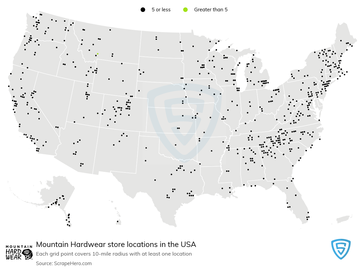 Mountain Hardwear store locations
