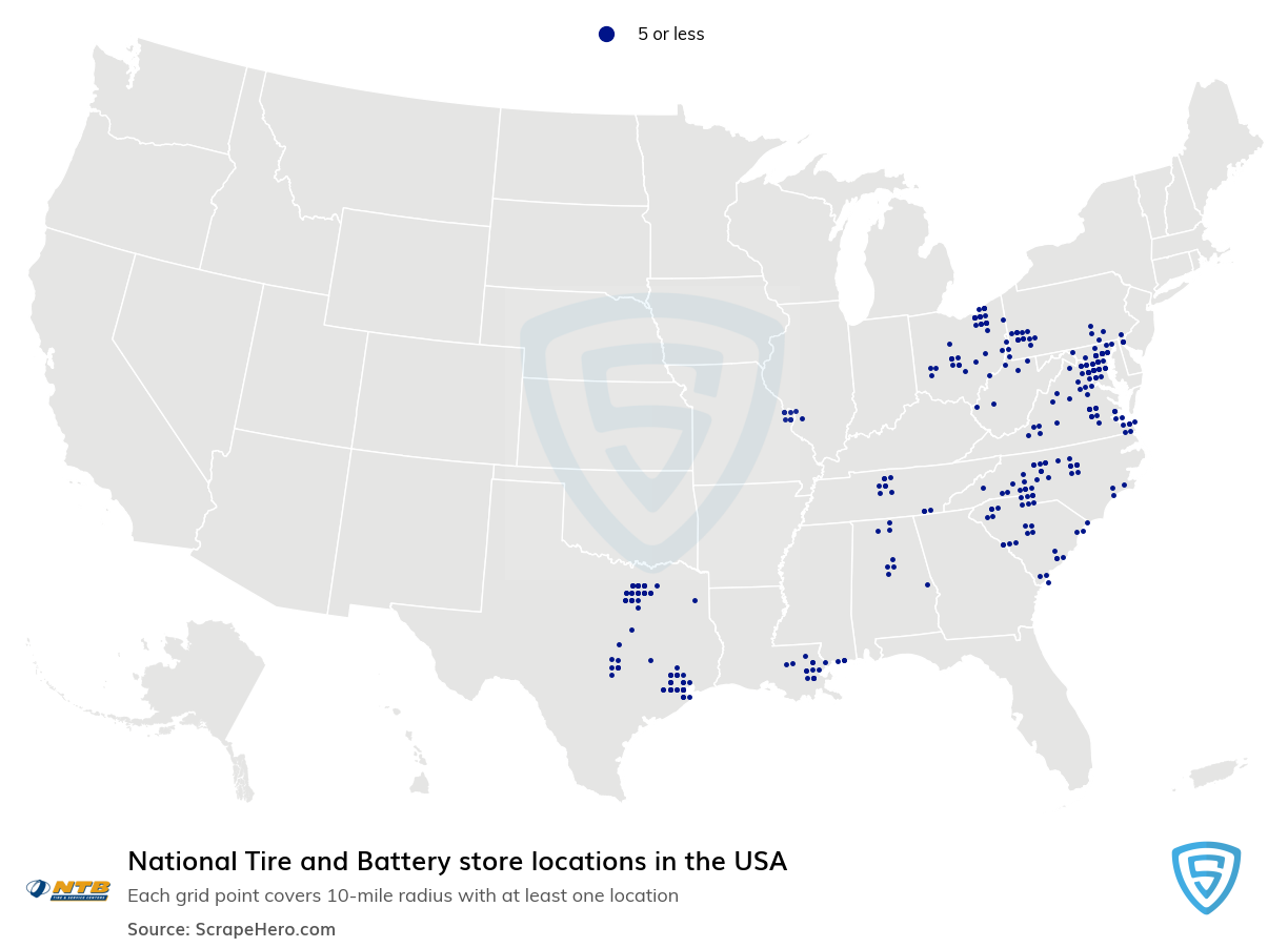 National Tire and Battery store locations
