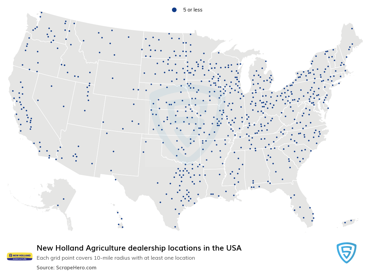 New Holland Agriculture dealership locations