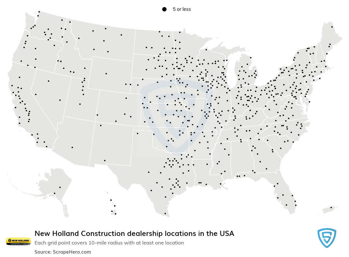 New Holland Construction dealership locations