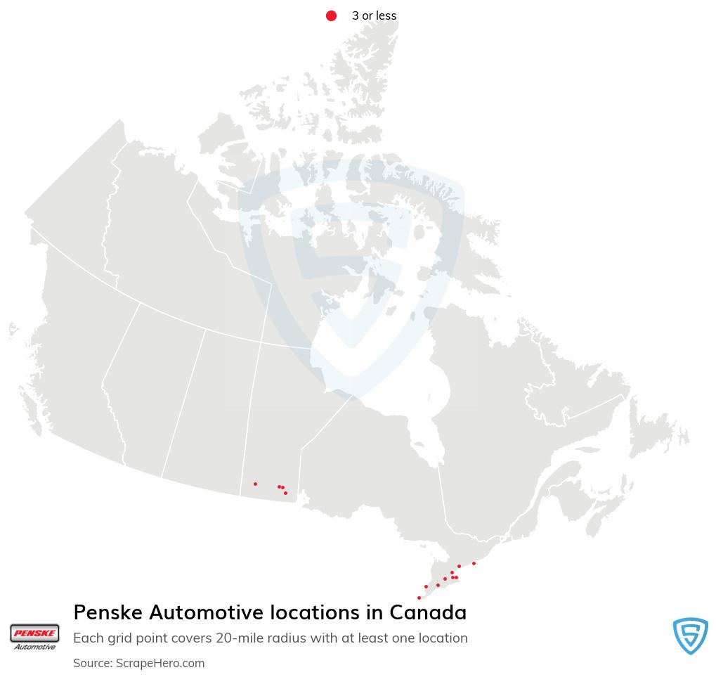 Penske Automotive locations