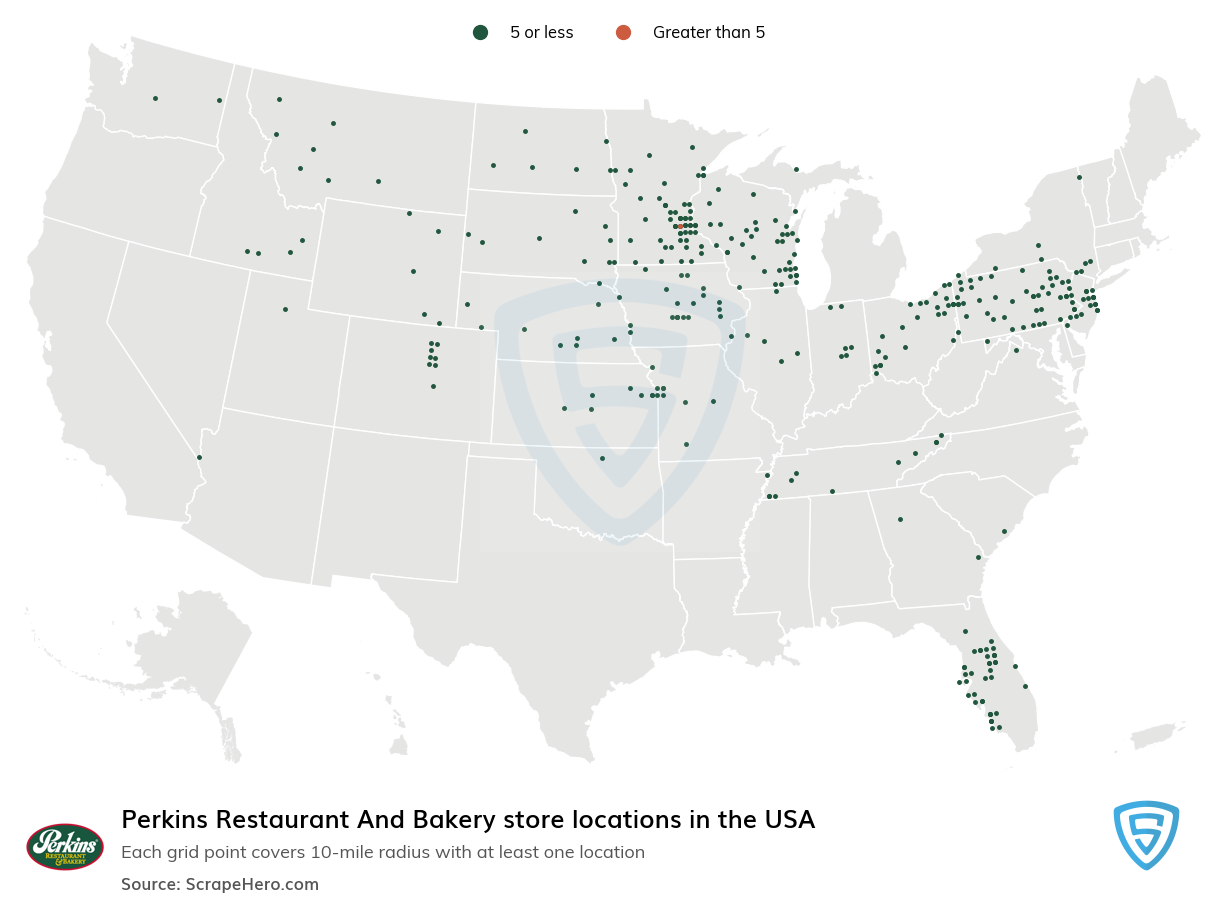 Perkins Restaurant and Bakery Store Locations in the USA
