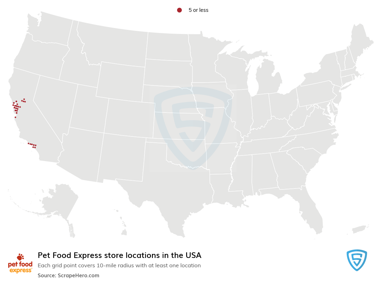 Pet Food Express store locations