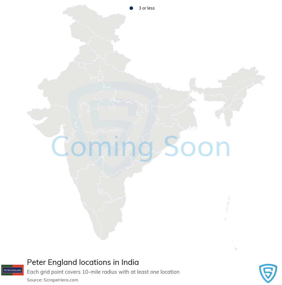 Peter England Store locations in India