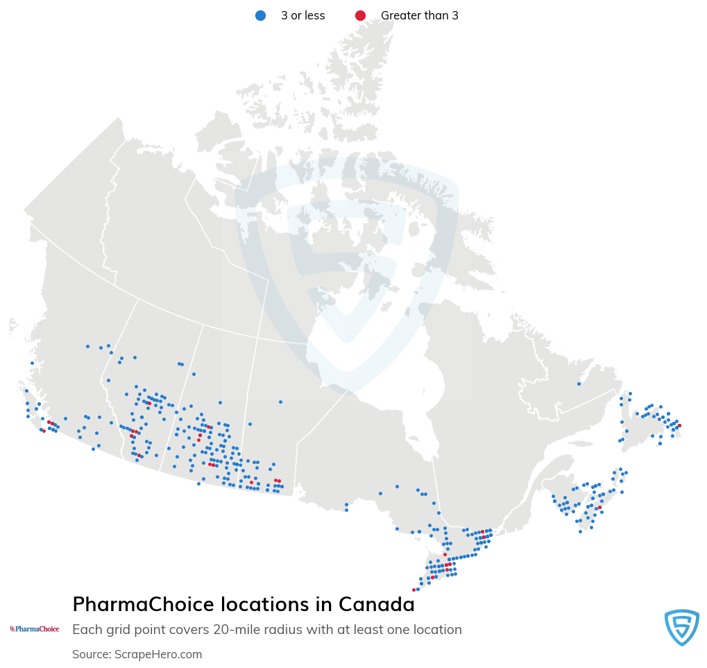 PharmaChoice Pharmacy locations in the Canada