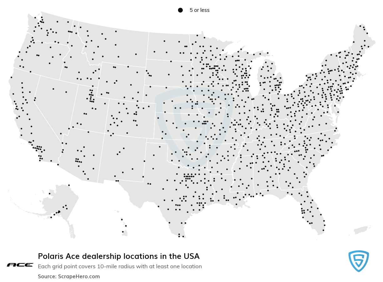 Polaris Ace Dealership locations in the USA