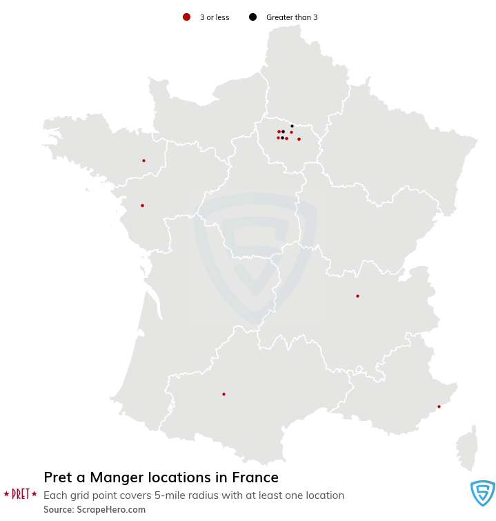 Pret a Manger store locations