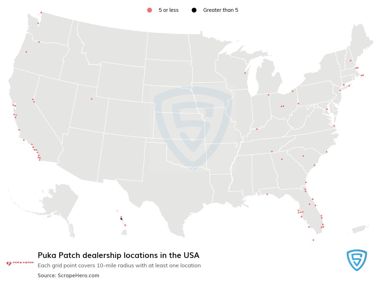 Puka Patch dealership locations