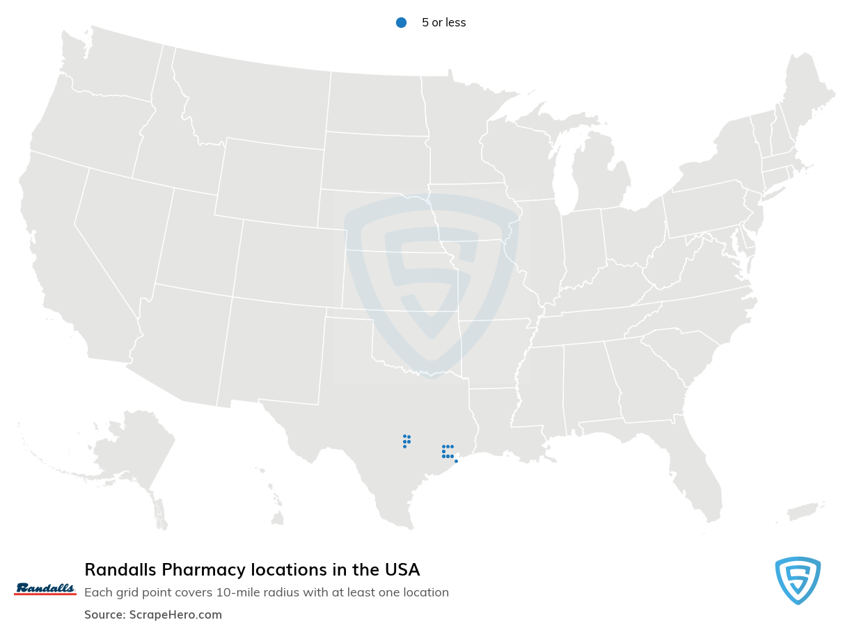 Randalls Pharmacy locations in the USA