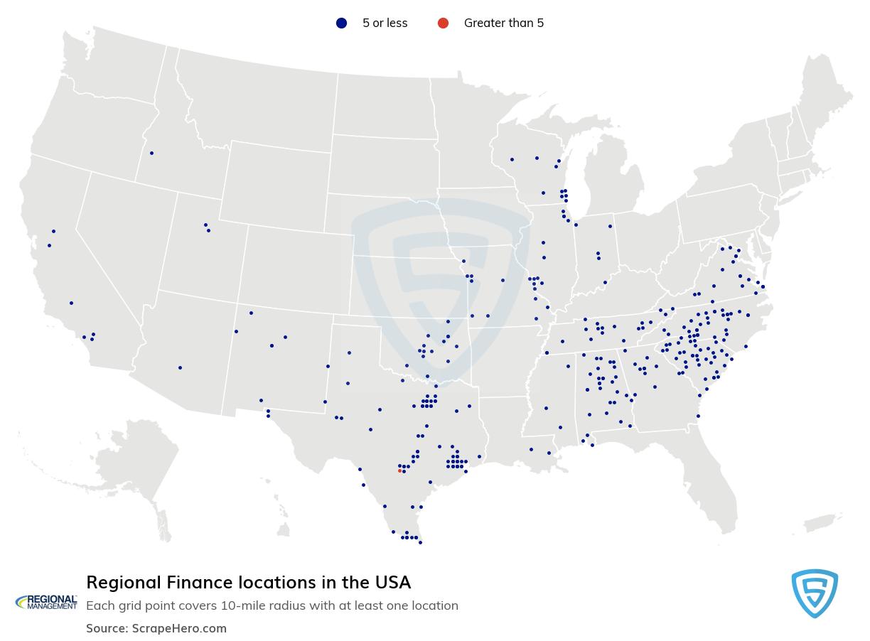 Regional Finance locations