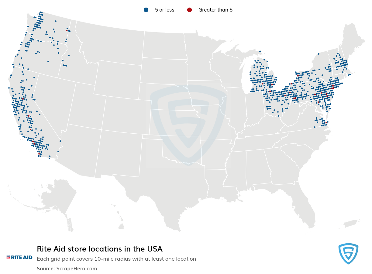 Rite Aid Store Locations in the USA