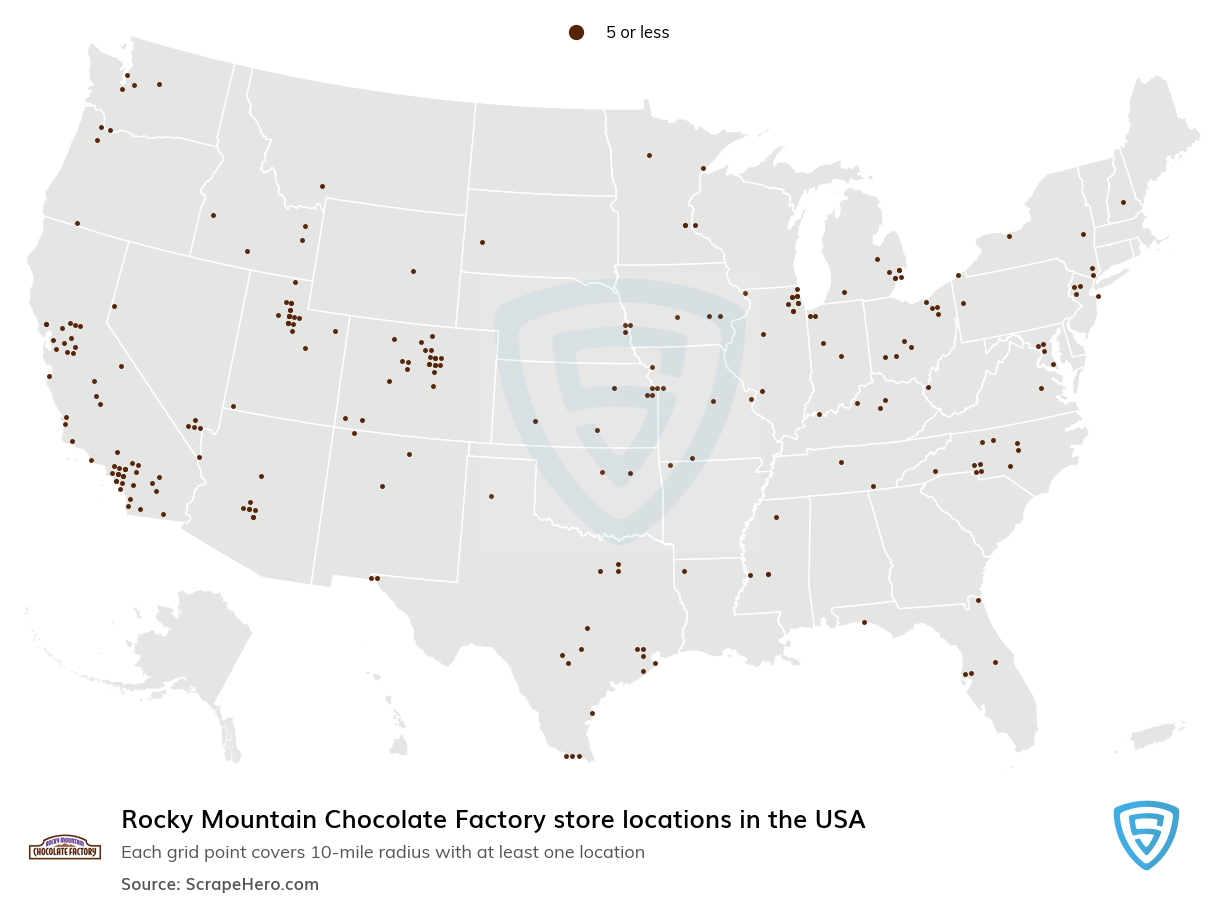 Rocky Mountain Chocolate Factory Store locations