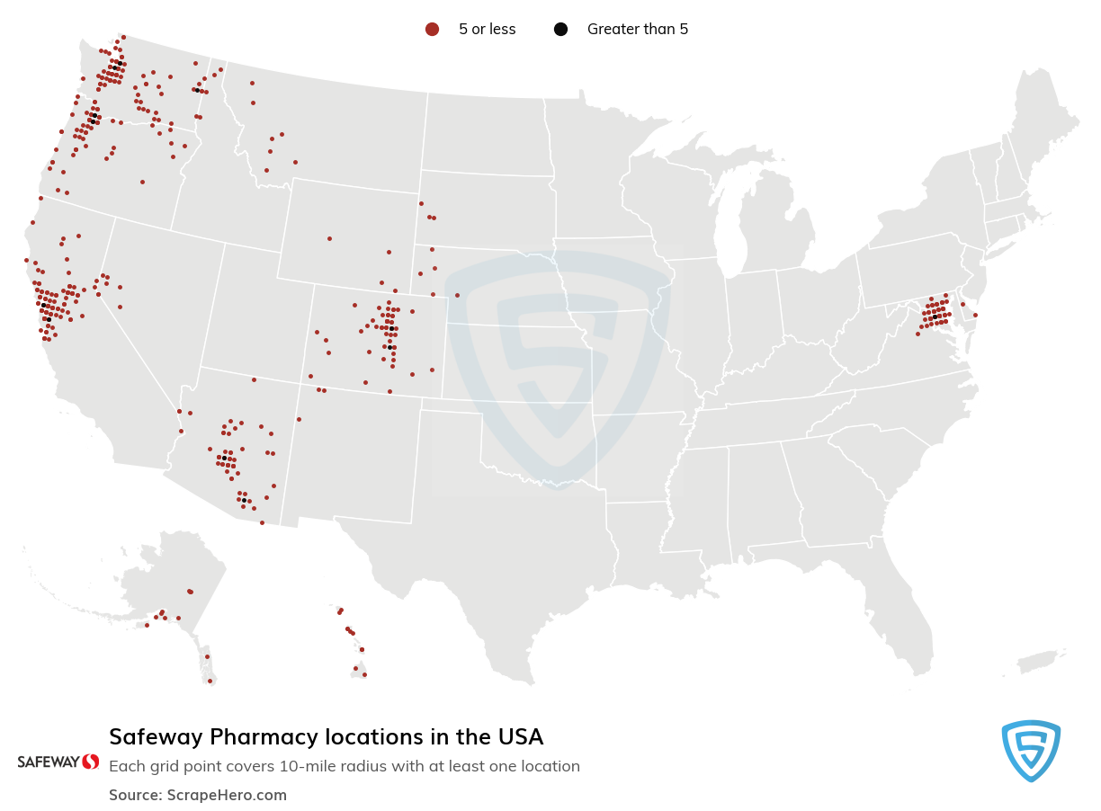 Safeway Pharmacy locations in the USA