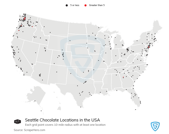 Seattle Chocolate store locations