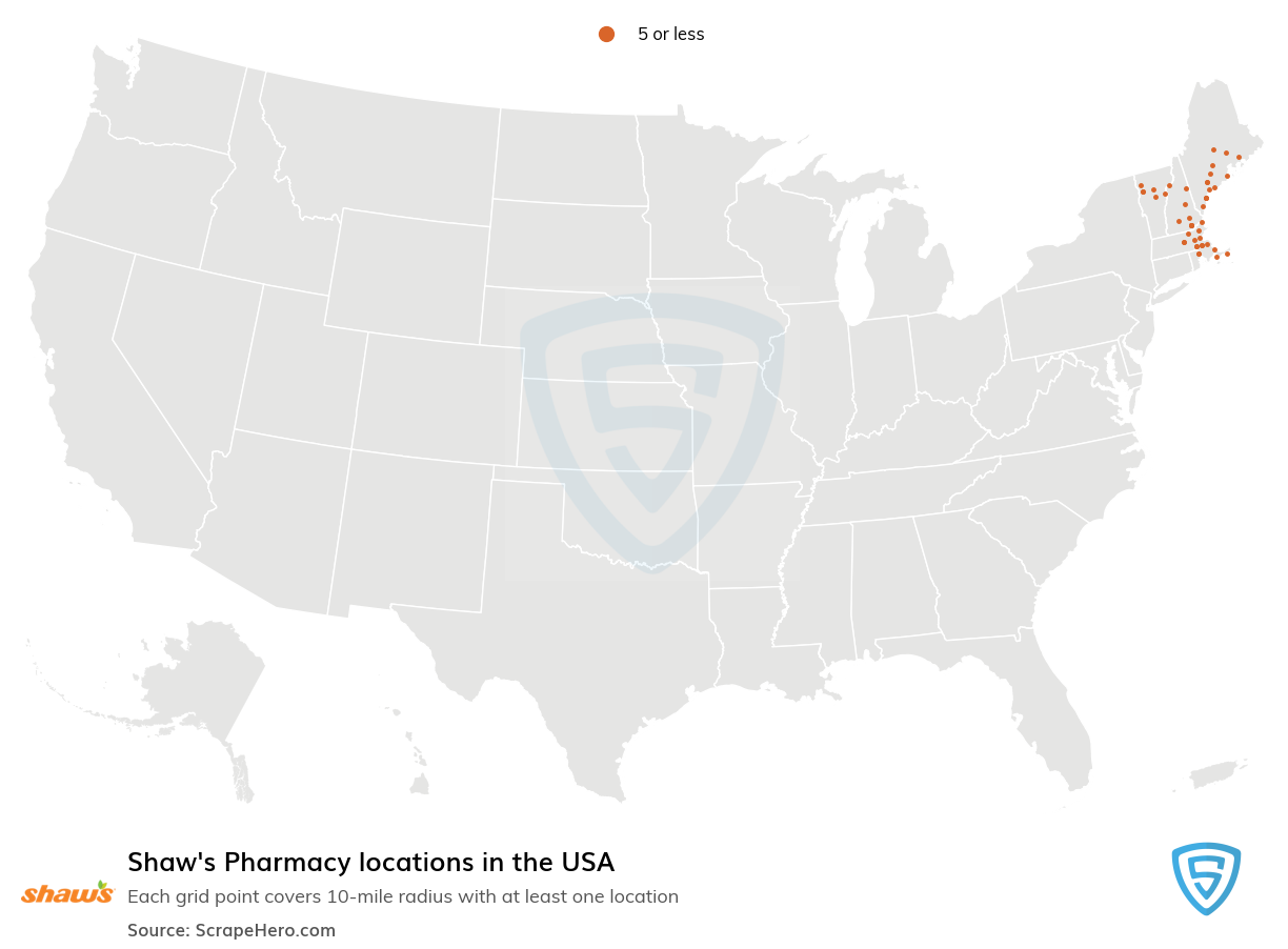 Shaw's Supermarkets Pharmacy locations in the USA