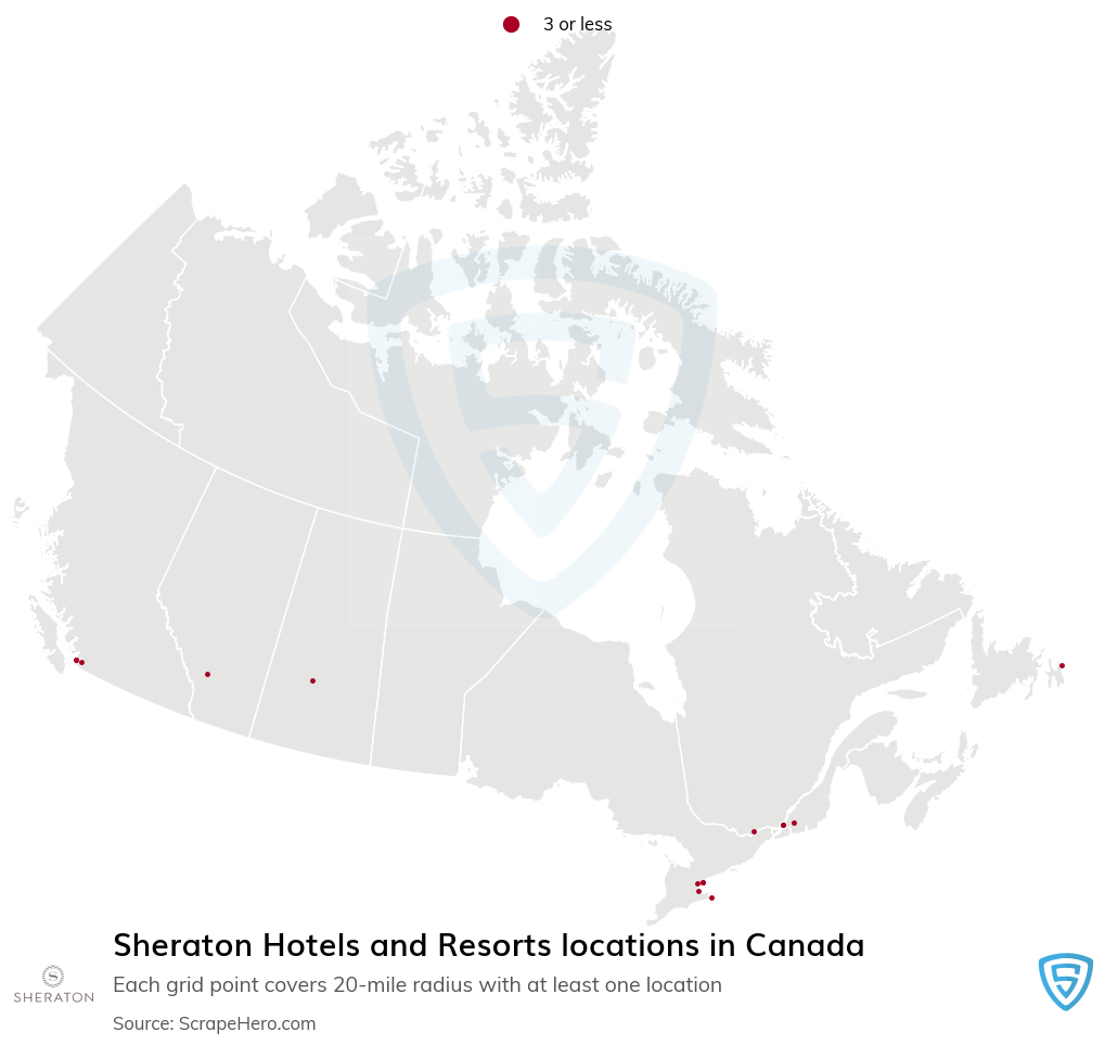 Sheraton Hotels and Resorts locations in the Canada