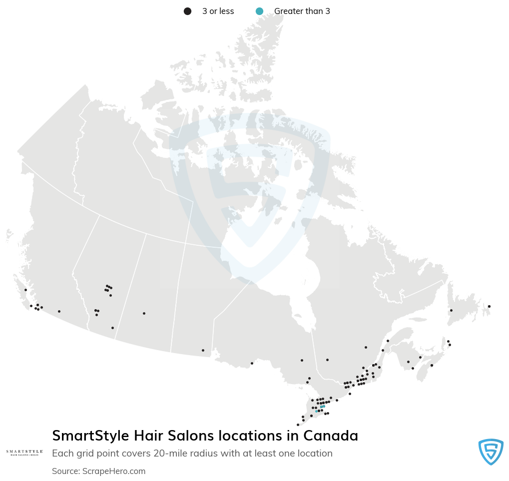 SmartStyle Hair Salons locations
