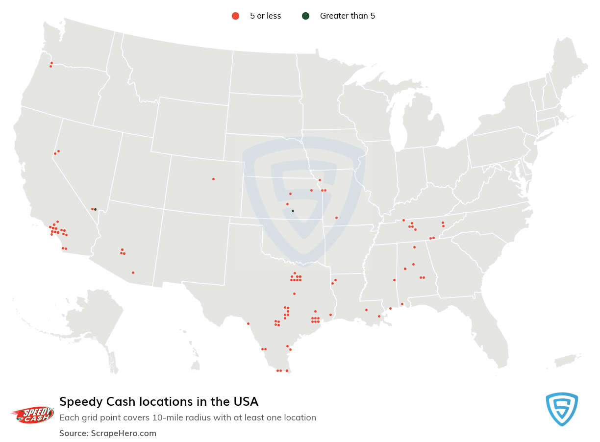 Speedy Cash Store locations in the USA