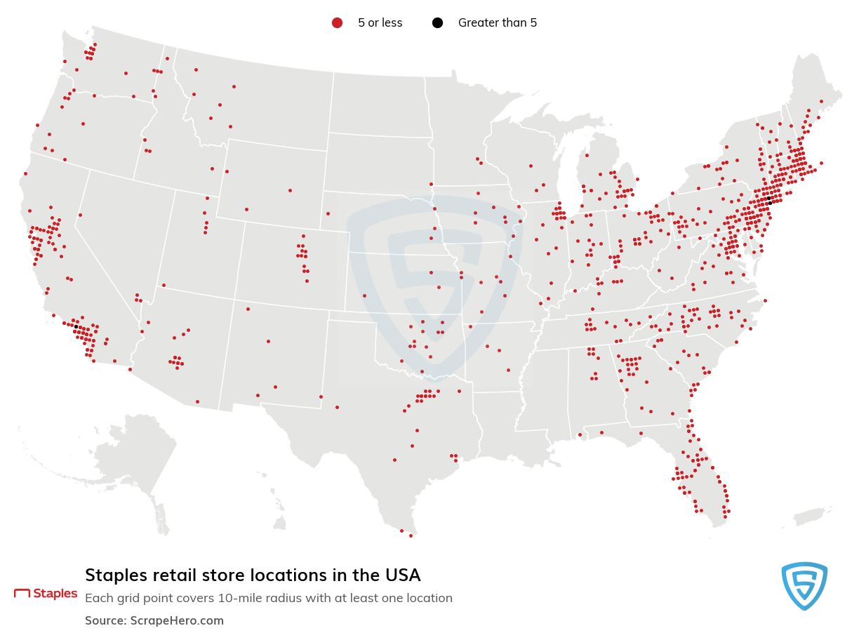 Staples store locations