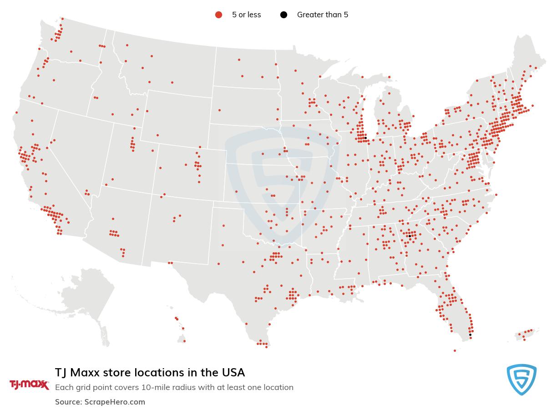TJ Maxx store locations