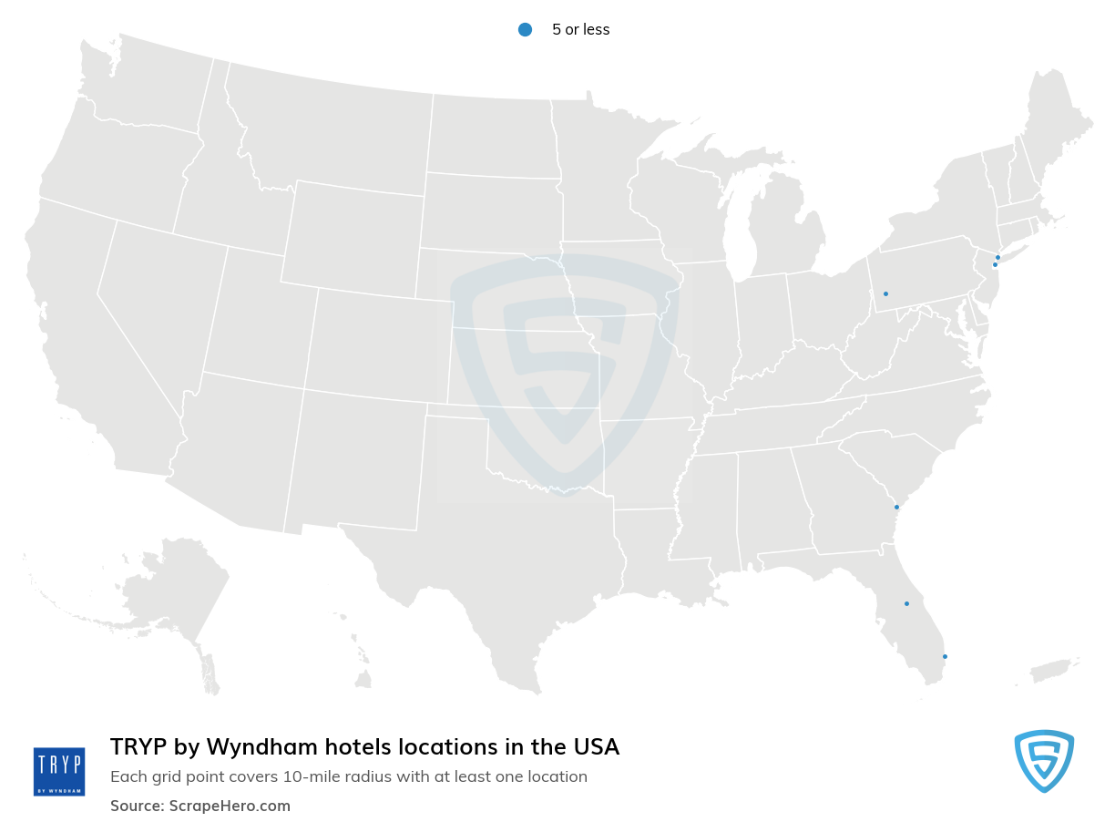 TRYP by Wyndham Hotels locations in the USA