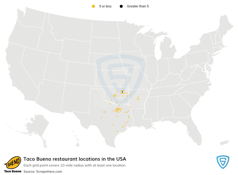 Taco Bueno locations