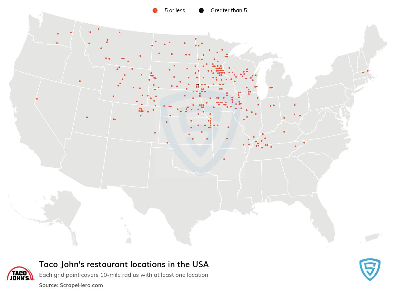 Taco John's store locations
