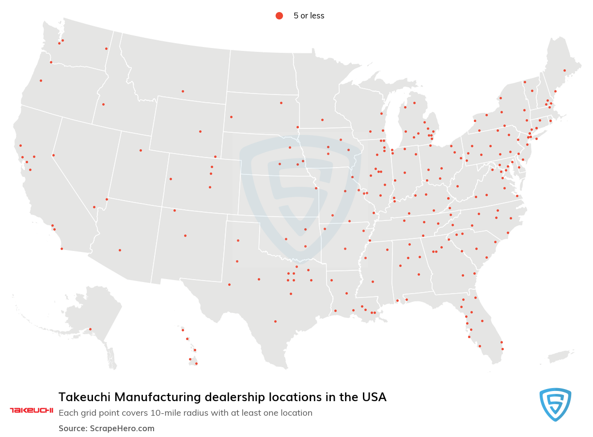 Takeuchi Manufacturing dealership locations